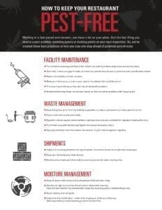 Tip Sheet to a pest free home or business