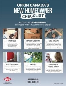 Pest prevention tip sheet for new home owners