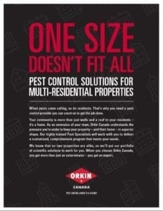 A pest control guide for multilevel residents