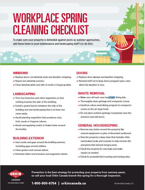 Tip sheet for workplace spring cleaning