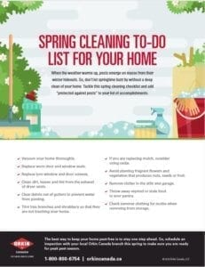 Spring Cleaning Checklist from Orkin Canada
