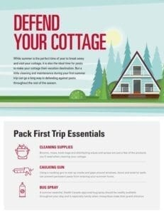 tip sheet to pest proofing a cottage