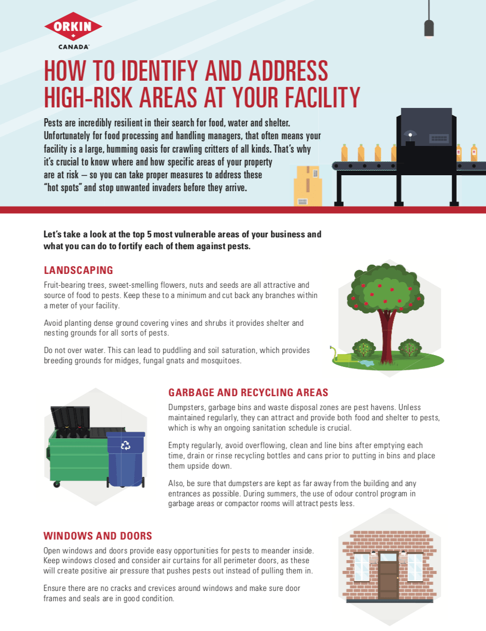 Guide to identifying high risk areas at a facility