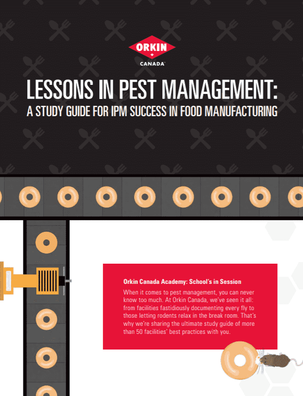 Pest control tips for food manufacturing facilities