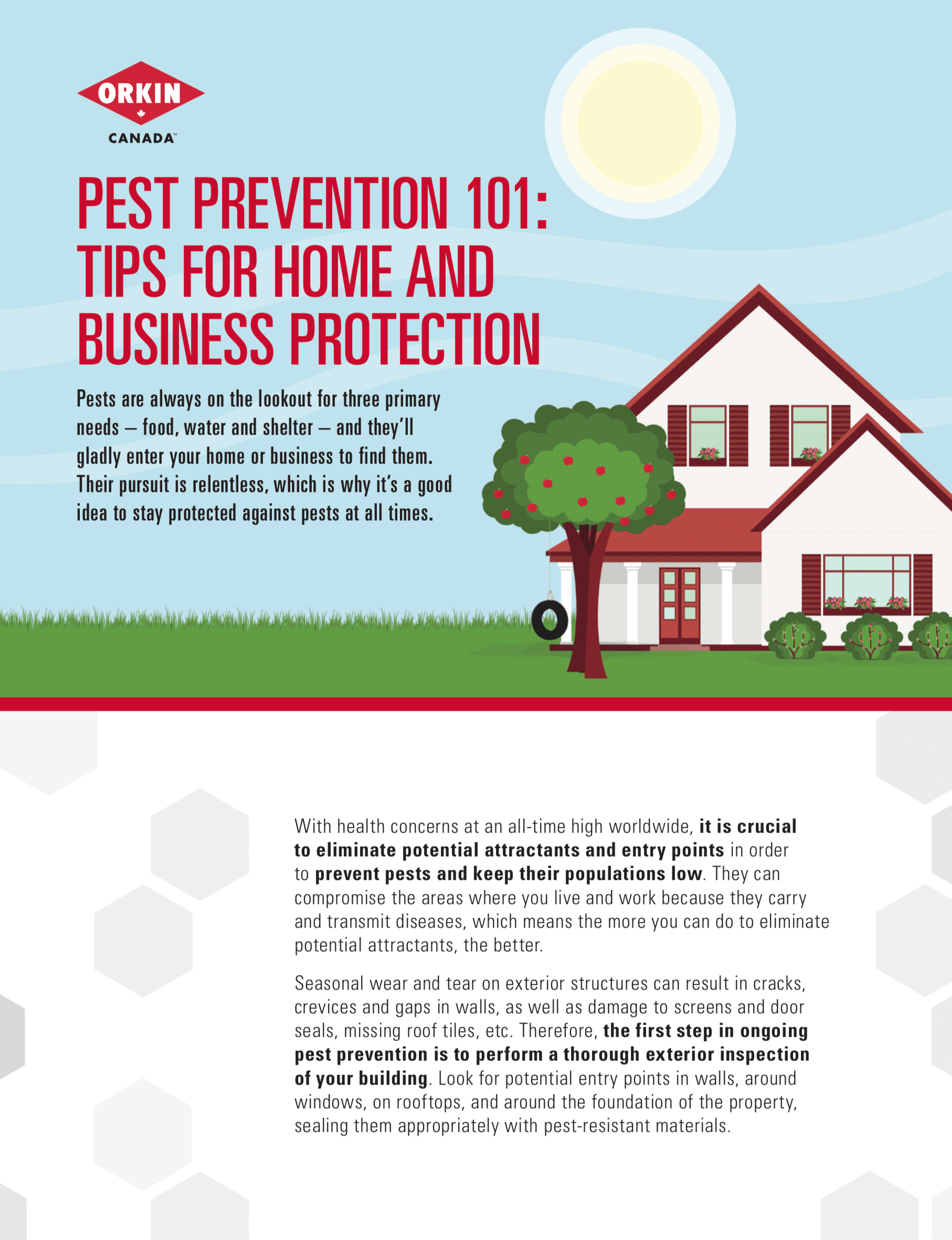 Tips sheet to protect against homes or businesses