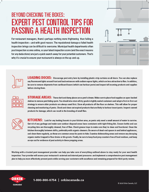 Tip sheet to pass a health inspection